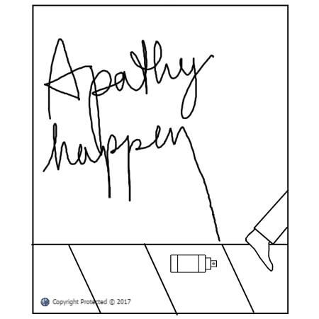 Apathy Happens cartoon art