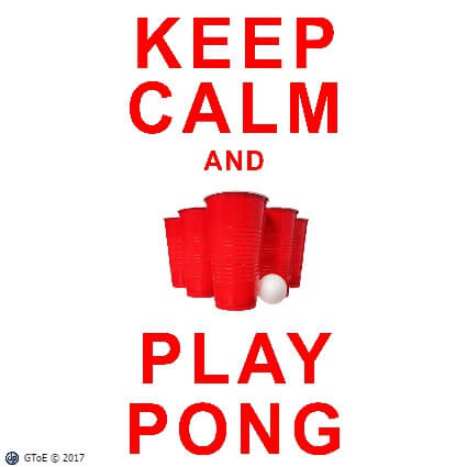 Keep Calm Play Beer Pong t-shirt