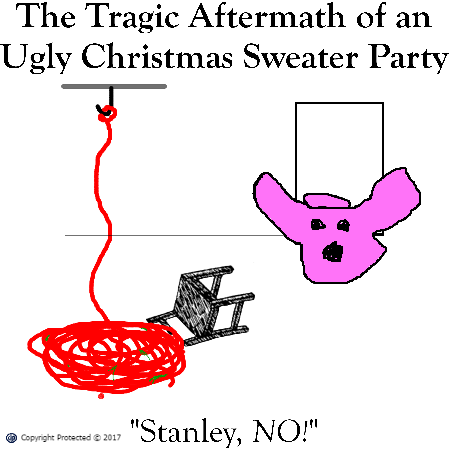 Tragic Aftermath of an Ugly Christmas Sweater Party