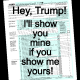 Trump Tax Form Protest I'll show you mine if you show me yours