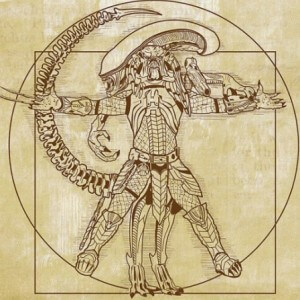 Vitruvian Hunter Alien vs Predator