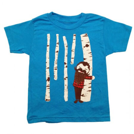 Tree hugger kid's tee