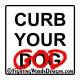 Curb Your God sticker