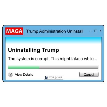 MAGA Trump Uninstall Dialog Box