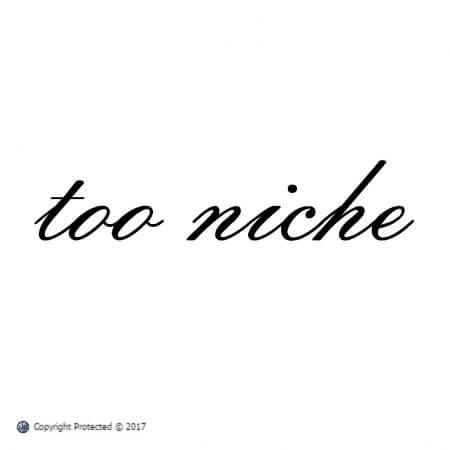 too niche t-shirt